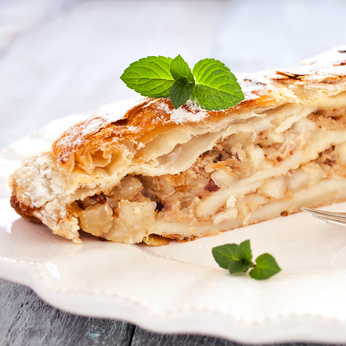 Jablečný koláč z pohankové mouky