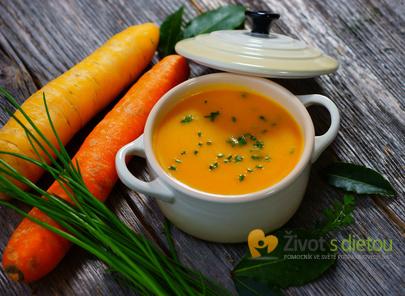 Lahodná mrkvová polévka