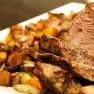 Hovězí maso s pórkem a mrkví