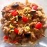 Vepřové chilli ragú s houbami a brusinkami