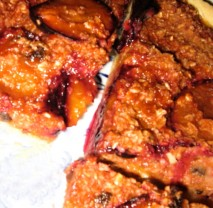 Meruňkový müsli koláč